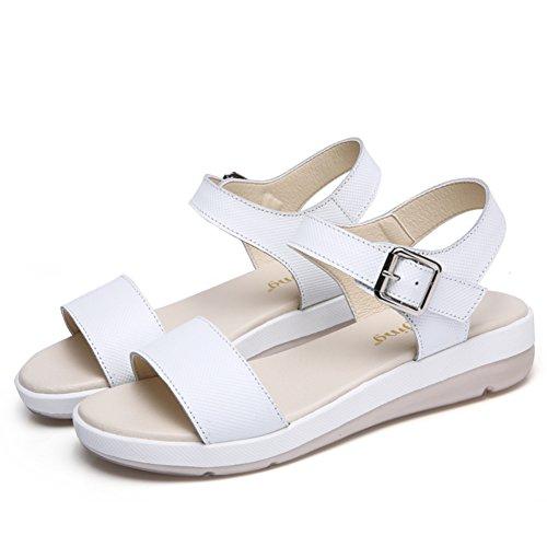 Estate,signora,anti-slittamento,scarpe casual/medio heels,sandali-A Lunghezza piede=23.8CM(9.4Inch)