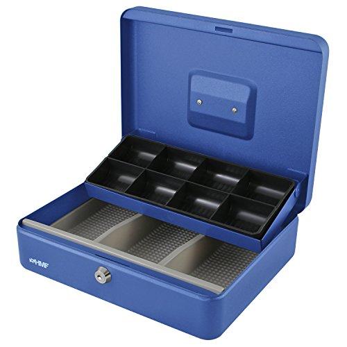 HMF 15130-05 Geldkassette Marktkassette 30 x 24 x 9 cm , blau