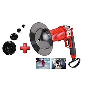 ROTHENBERGER Industrial Pressluft Rohrreiniger inkl. 4 Gummiadapter, Rohr frei in Bad, Küche, WC. Reinigung mit Luftdruck - 150000006