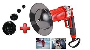 pocero de wc: ROTHENBERGER Industrial Pressluft Rohrreiniger inkl. 4 Gummiadapter, Rohr frei i...