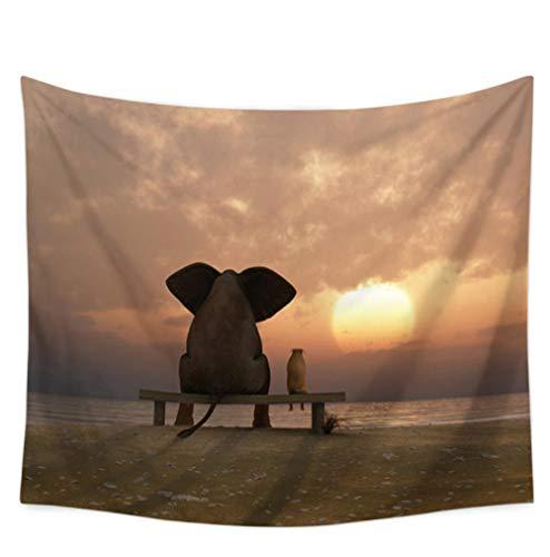 Vandelkt Animal Print Elefant Wandbehang Große Wandteppich Wohnkultur Bettlaken Sommer Strand Decken Bademode Decke Tischdecke Yoga-Matten