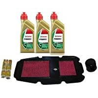 Kit Honda Transalp 650: Huile Castrol Power 1 + Filtre à huile + Filtre à air + Bougies