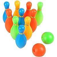 Sharplace Juego de Bolos para Niños con 10 Pinos 2 Bolas Conjunto de Jueguete para Niños
