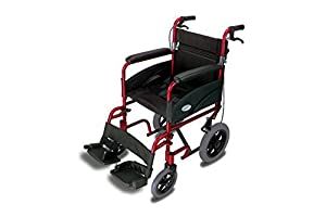 Simplelife Mobility Ultra Lightweight Folding Transit Wheelchair with Brakes
