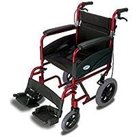 Simplelife Mobility - Silla de ruedas con freno (plegable, ultraligera)
