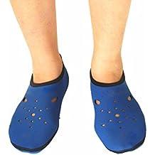 Vococal - 1 par Antideslizante Calcetines para Natación Buceo Snorkel Playa al aire libre Hombre Mujer Unisex (Azul,XL)