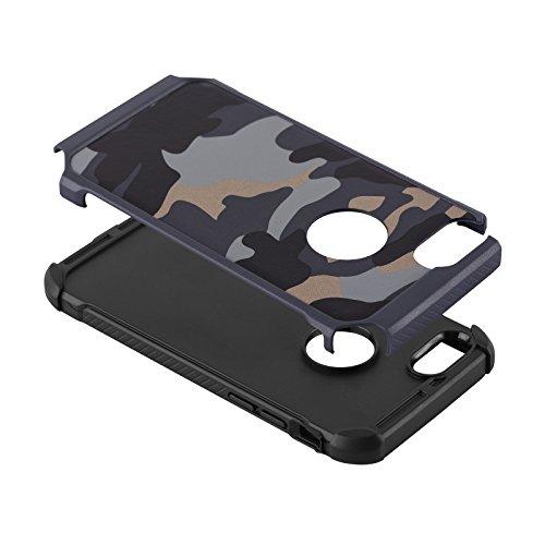 Cover iPhone 6, JAMMYLIZARD [Army] Custodia Heavy Duty Militare in TPU per Apple iPhone 6 e Apple iPhone 6s, VERDE BLU