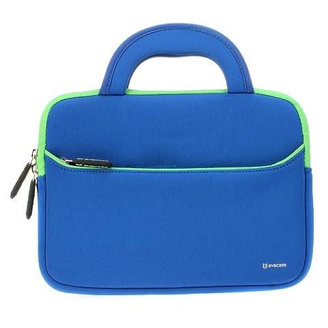 Evecase 8.9 - 10.1 inch Tablet Sleeve Hand Bag, Portable Neoprene Zipper Carrying Case w/ Accessory Pocket for Apple, Samsung, Lenovo, Linx Tablets, eBook, e-Reader -