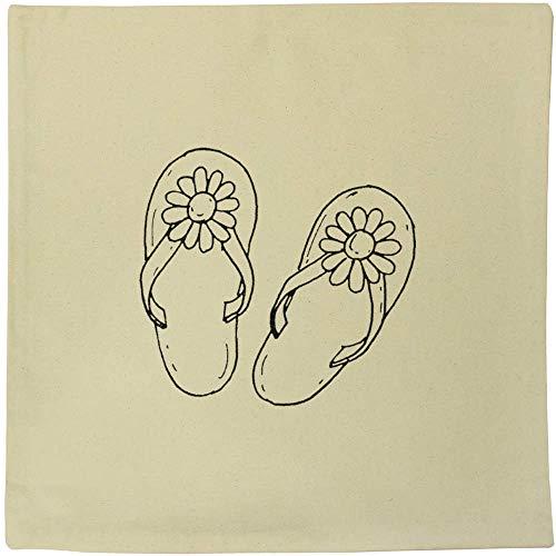 40cm x 40cm 'Blume Flip Flops' Kissen Abdeckung (CV00005392) - Flip-flop-kissen