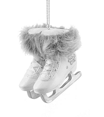 Caffco Schneeflocke Schlittschuhe mit Fell zum Aufhängen -