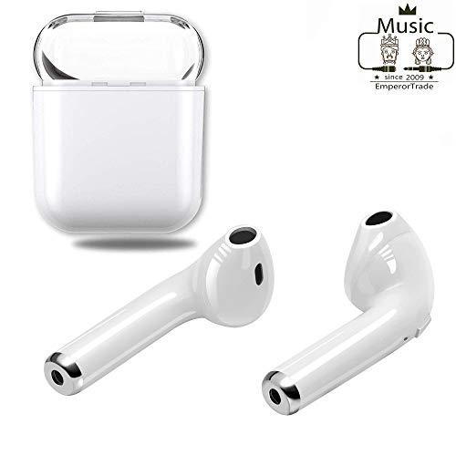 Aktualisierte Version des kabellosen I8X-TWS-Mini-HiFi-In-Ear-Kopfhörers Bluetooth-Freisprecheinrichtung 5.0 Sport schweißfestes 3D-Geräuschunterdrückung für iOS-Mac-Tablets (Weiß)