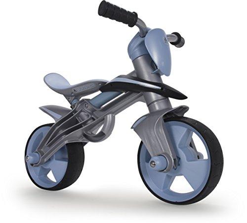INJUSA - Bicicleta Jumper sin Pedales para niños a Partir de 2 años, Casco Incluido, diseño ergonómico y Bandas de Goma en Ruedas, Azul (500)