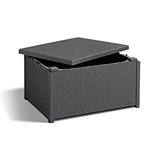 Allibert Arica Storage Table - Graphite