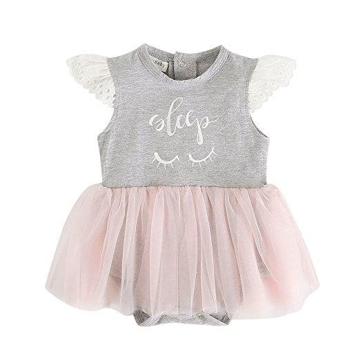 Sanlutoz Tüll Tutu Prinzessin Neugeborenes Baby Mädchen Kleid Strampler Ziemlich Baby Mädchen Bodys (0-6 Monate, BRS7043) (Mädchen Ziemlich Baby)
