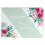 Partycards Gästebuch Hochzeit personalisiert 52 Seiten Weiss blanko DIN A4 quer Hardcover Hochzeitsgästebuch Hochzeitsalbum Hochzeitsgeschenk