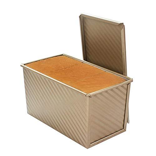 Storagc Household Rechteckig Gold Wellblech Toast Box 450 G Toast Brotform Ofen Backen Werkzeug ist nicht Klebrig