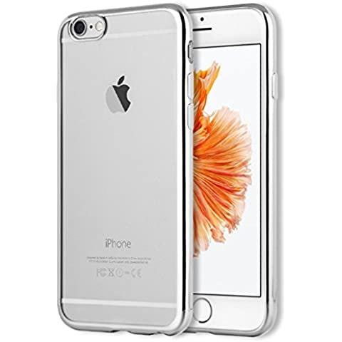 iPhone 6S Case, iphone 6 Case, ACMBO Ultra Thin Slim-fit Electroplating edge bumper Transparent Clear Soft TPU Silicone Rubber Mobile Phone Case Cover for iphone 6S/6 4.7 inch,