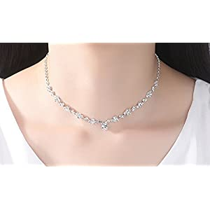 Set collier con perle in strass da sposa