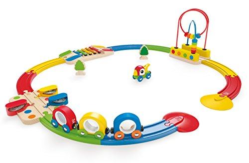 Hape - Circuito de tren musical y pasabolas (Barrutoys E3815) , Modelos/colores Surtidos, 1 Unidad