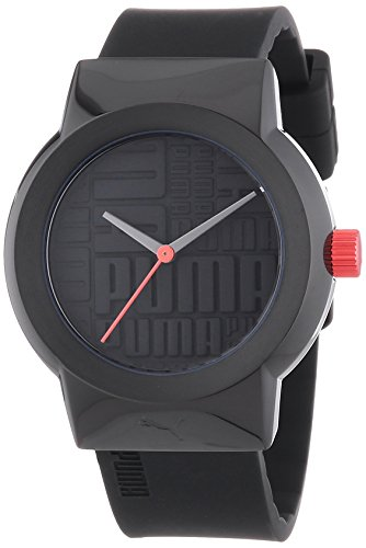 Puma Time Women's Quartz Watch with Black Dial Analogue Display and Resin Black - PU103842002
