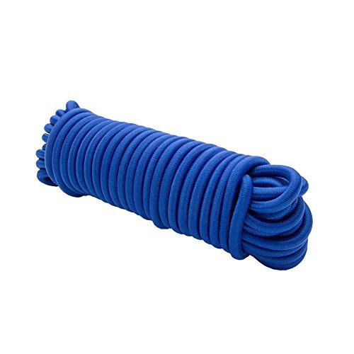 Expanderseil 10 m Blau 4 mm Gummiseil Gummischnur Spannseil Planenseil Gummileine elastisches Seil spannen und befestigen -