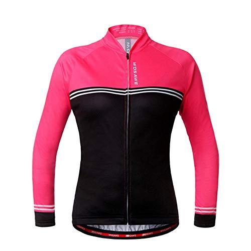RJHY Fahrrad-Jacke Berg Jersey Rennrad toppt Feuchtigkeit Wicking Outdoor Radfahren Jersey Frauen,XL -