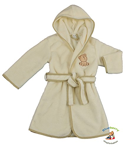 BlueberryShop Embroidered Luxurious Hooded Soft Warm and Fluffy Fleece Bathrobe, Robe, Dressing Gowns 1-7 Yrs ( 1-7 Yrs ) ( 1 - 2 Yrs ) BlueberryShop
