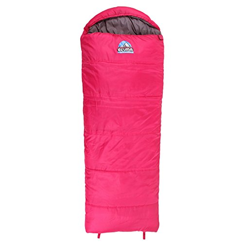 Azuma Pink  Grey Childrens Kids Junior Mummy Sleeping Bag 1-2 Season Camping