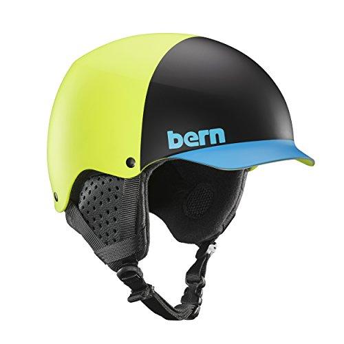 Bern Herren Baker Helm, Matte Neon Yellow, M