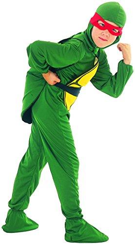 ildkröten Kostüm für Jungen 122/134 (7-9 Jahre) (Ninja Turtle Kostüm Lustig)