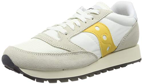 Saucony Jazz Original Vintage, Sneaker Donna, Multicolore (Cement/Yellow 40), EU