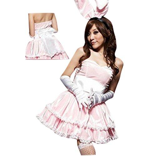 MWPT Damen Sexy Rollenspiel Kaninchen Dress Up Eingewickelt Brust Kleid Dessous Abendkleid (Dress Brust Up)