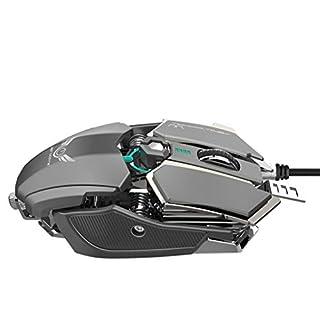 Pwtchenty- Souris De Jeu Concurrentielle 4000Dpi Boutons Programmables Gaming Optique Haute PréCision Programmable, Profesionnel Filaire avec Niveux RéGlable Gamer