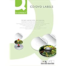 Connect Labels for CD/DVD 25 sheets - Etiqueta autoadhesiva (117 mm)