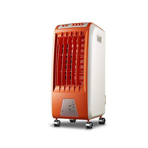 XIAOYAN Orange Luftkühler Mobiler Klimaventilator Klein mit 6 Wassertanks 3 Windgeschwindigkeiten 250 m³ / h