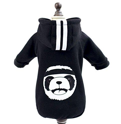 zunea Winter Warm Coat Panda Fleece Hoodies Sweatshirt Sport Katze Kleidung kleinen Hund Welpen Kostüm Bekleidung