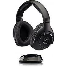 Sennheiser RS 160 - Auriculares (Negro, Circumaural, RF, 18 - 21000 Hz, Dinámico, Diadema)
