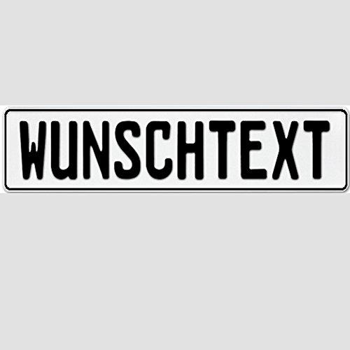 1 x KFZ Kennzeichen OHNE EU ZEICHEN Nummernschild Autoschild BLANKO