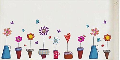 Wall Sticker rimovibile PVC Lovely Little Pot arte DIY per i bambini in camera Ristorante TV Armadio Cabinet