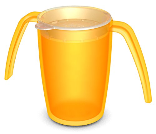 ornamin-816-814-zwei-henkel-becher-250-ml-gelb-mit-trinkdeckel