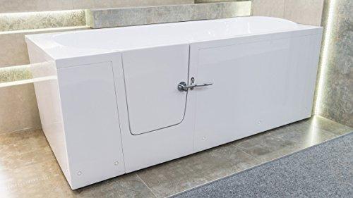 Senioren Sitzbadewanne IMPRESSION 160×76 cm Links Sitzbadewanne Seniorenbadewanne Sitzwanne Badewanne mit Tür