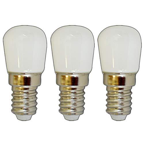 3x Stück - E14 mini LED Birne 1,5 Watt matt/Milchglas - warmweiß Lampe Strahler Glühbirne Birne Leuchtmittel - Milchglas Led Birne