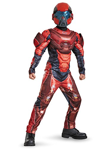 (Disguise Red Spartan Classic Muscle Halo Microsoft Costume, Medium/7-8)