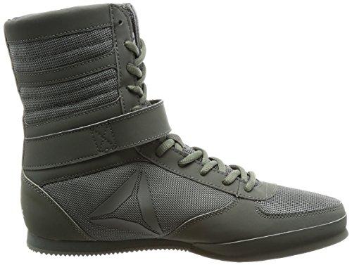 Reebok Herren Boxing Boot-Buck Boxschuhe Grün (IronStone/Black)
