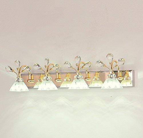 LED-Badezimmer-Kristallspiegel-vorderes helles europäisches minimalistisches Badezimmer-Spiegel-Kabinett-Lichter-Abricht-Tabellen-Wand-Lampe (Farbe : 64 * 16.5cm) - 64 Tabelle Lampe