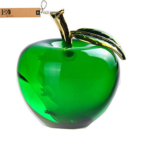 H&D Crystal Apple Paperweight Wedding Home Decoration (Green) Test