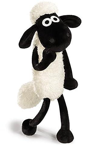 Nici 39655 - Shaun das Schaf Schlenker, 25 cm, weiß