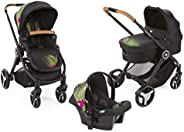 Chicco Trio Activ3 With Kit Car, Modular Travel Systems - Tropical Jungle - Dark Grey