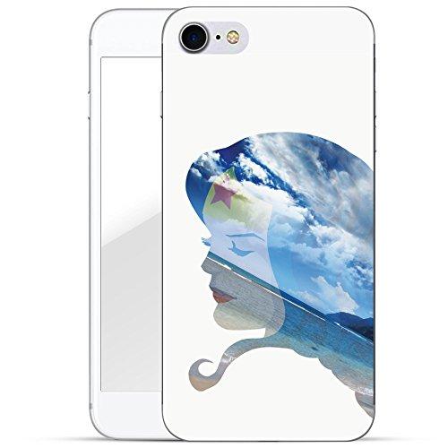 finoo | iPhone 8 Plus Handy-Tasche Schutzhülle | ultra leichte transparente Handyhülle in harter Ausführung | kratzfeste stylische Hard Schale mit Motiv Cover Case |Wonder woman Art Portrait Beach
