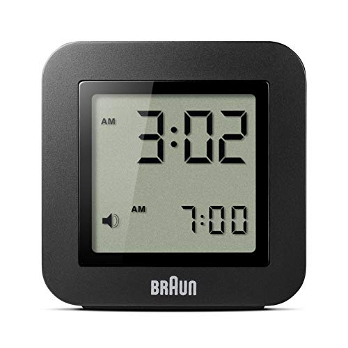 Braun BNC-018-BK Reloj Despertador Digital, Color Negro